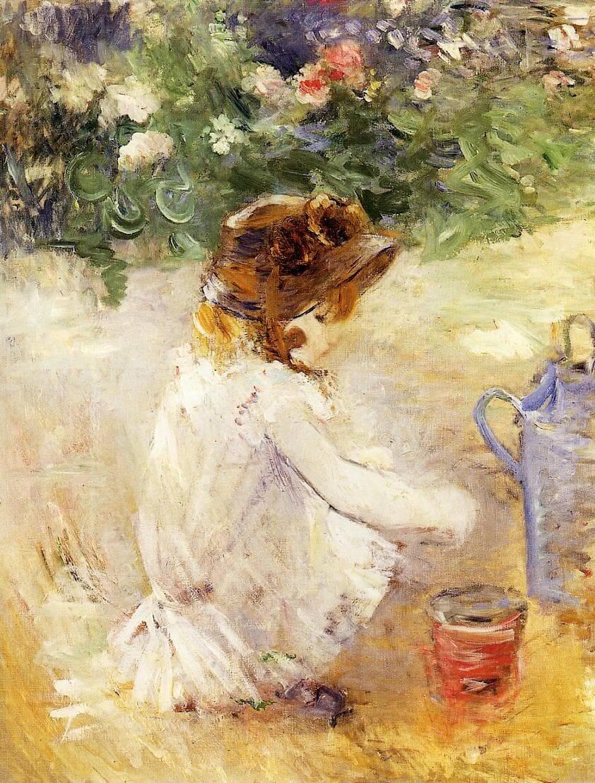 """""""Lek i sanden"""" av Berthe Morisot"""
